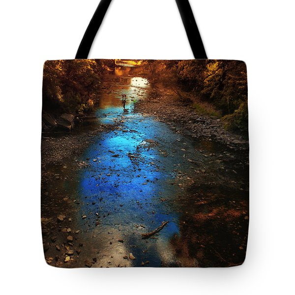 Autumn Reflections On The Tributary Tote Bag by Thomas Woolworth