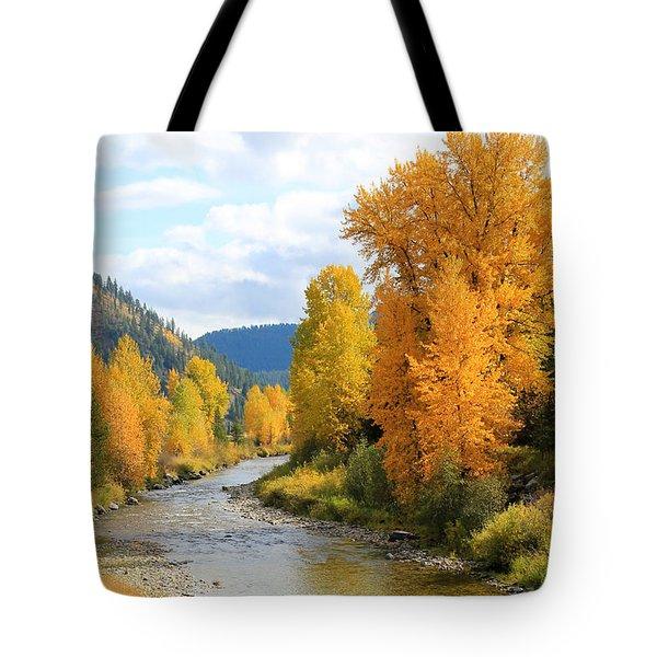 Autumn River Tote Bag by Athena Mckinzie