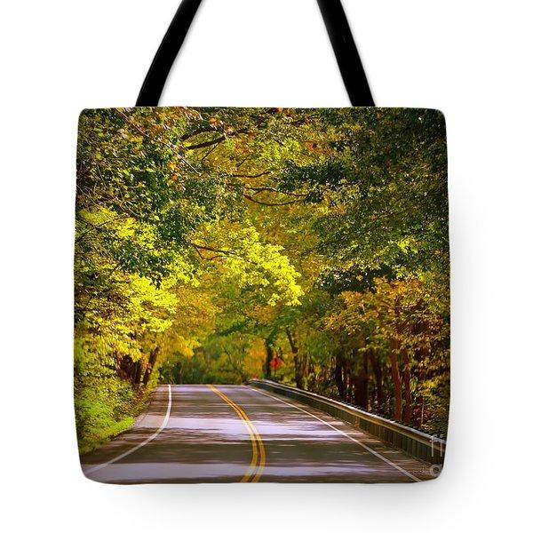 Autumn Road Tote Bag by Carol Groenen