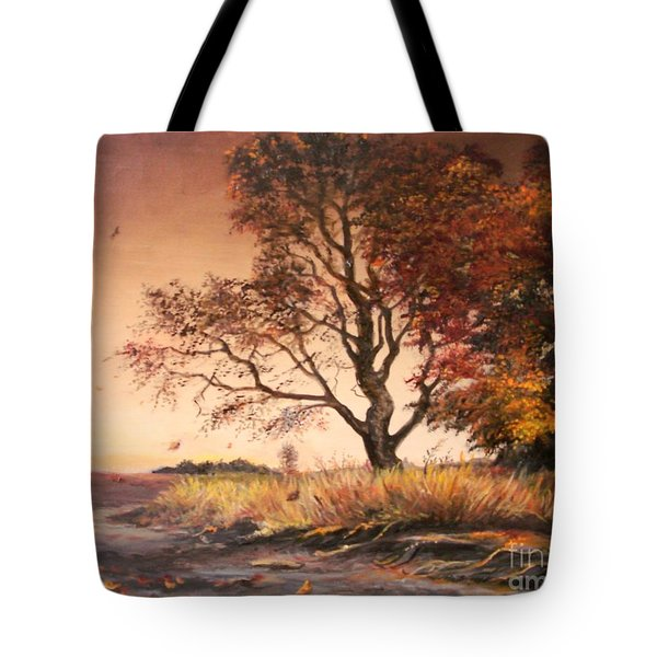 Autumn Simphony In France  Tote Bag by Sorin Apostolescu