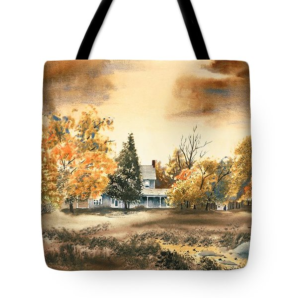 Autumn Sky No W103 Tote Bag by Kip DeVore