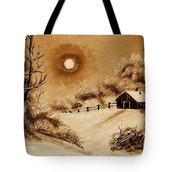 Autumn Snow Tote Bag by Barbara Griffin