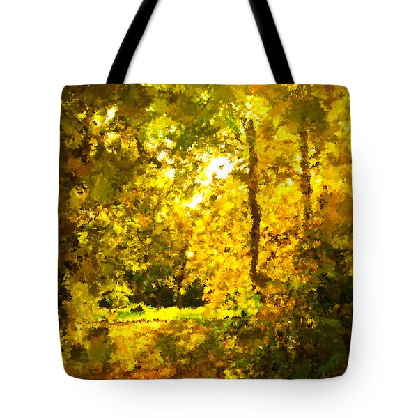 Autumn Splash Tote Bag by Johnny Trippick