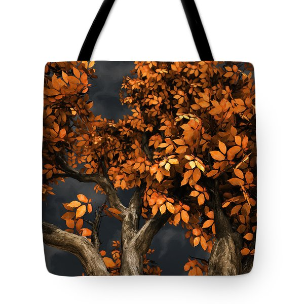 Autumn Storm Tote Bag by Cynthia Decker