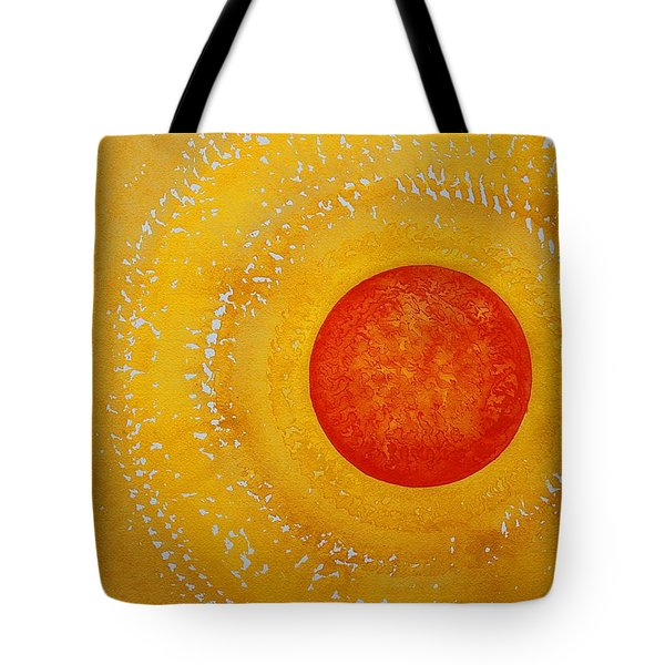Autumn Sun Original Painting Tote Bag by Sol Luckman