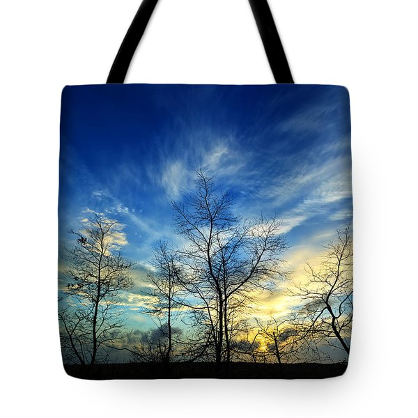Autumn Sunset Tote Bag by Bill Caldwell -        ABeautifulSky Photography