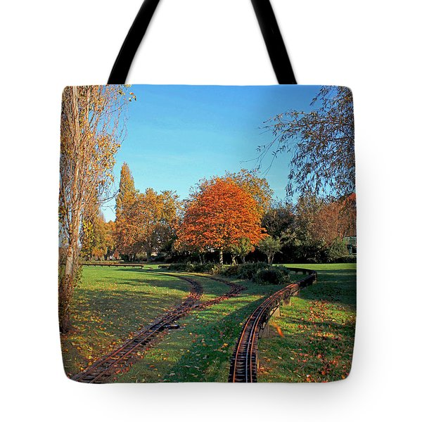 Autumn Tracks Tote Bag by Terri Waters