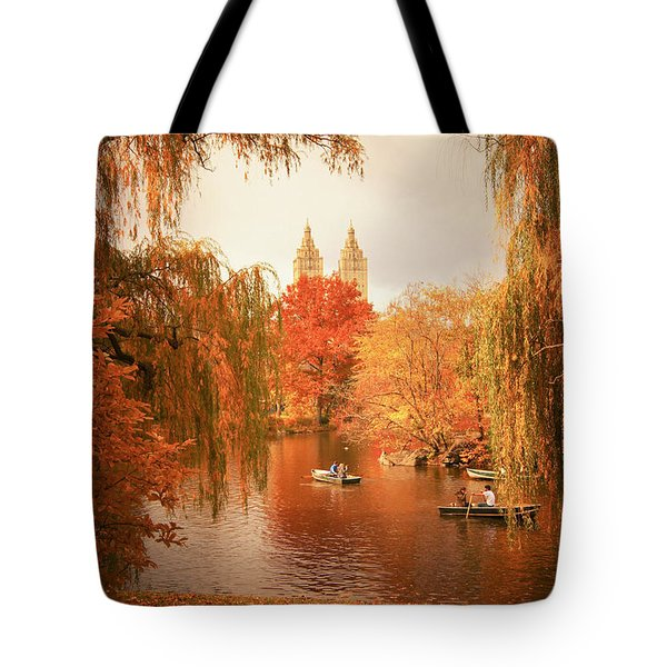 Autumn Trees - Central Park - New York City Tote Bag by Vivienne Gucwa