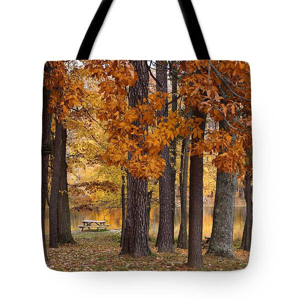 Autumn View Tote Bag by Sandy Keeton