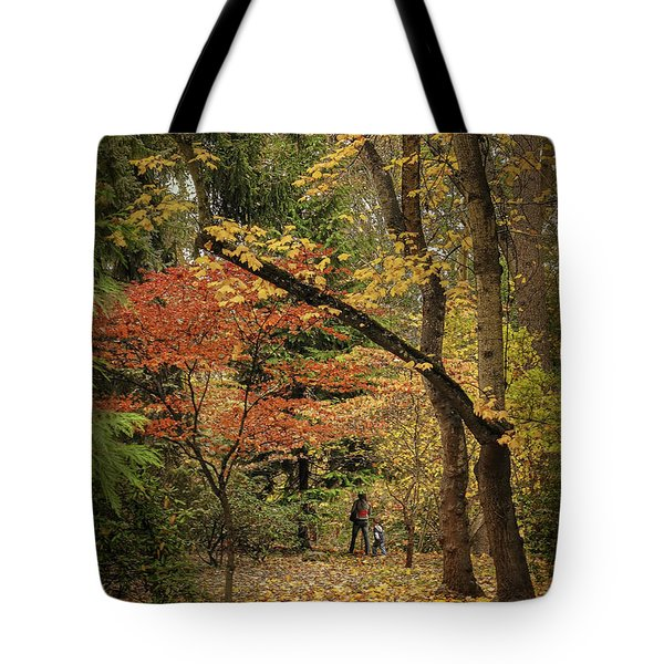 Autumn Walk Tote Bag by Diane Schuster