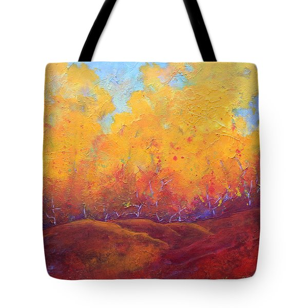Autumn's Blaze Tote Bag by Nancy Jolley