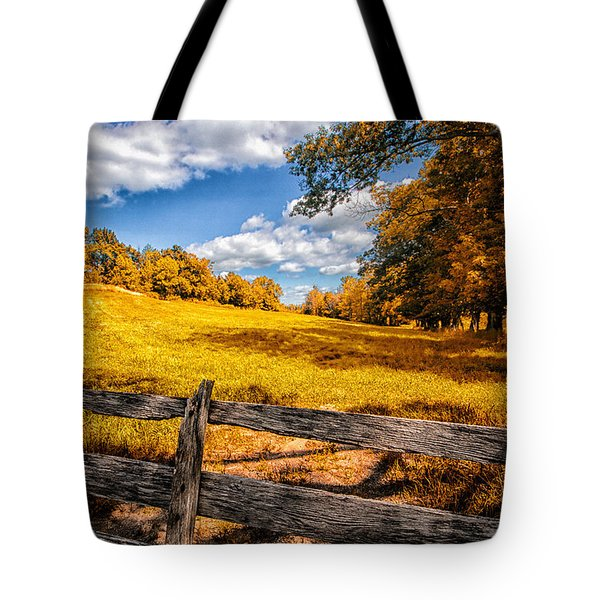 Autumns Pasture Tote Bag by Bob Orsillo