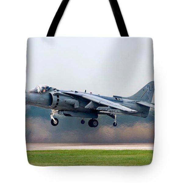 Av-8b Harrier Tote Bag by Adam Romanowicz