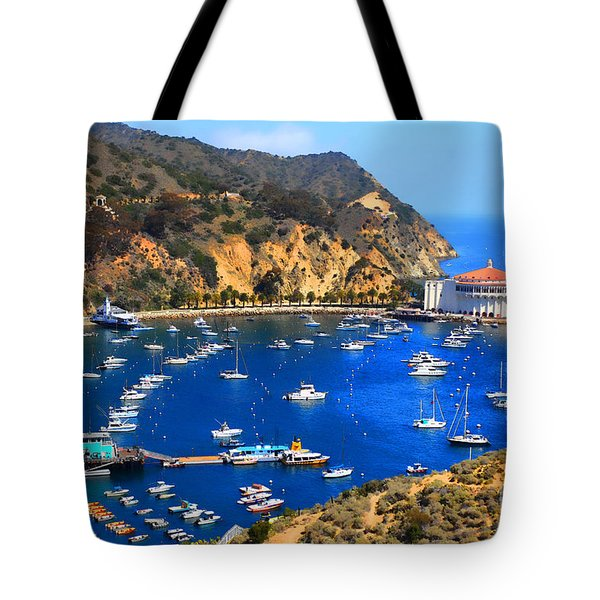 Avalon Harbor Tote Bag by Cheryl Young