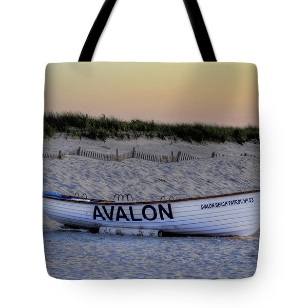 Avalon Lifeboat Tote Bag by Bill Cannon