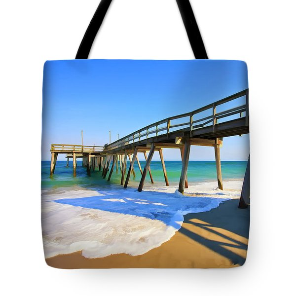Avalon Pier Tote Bag by Geoff Crego