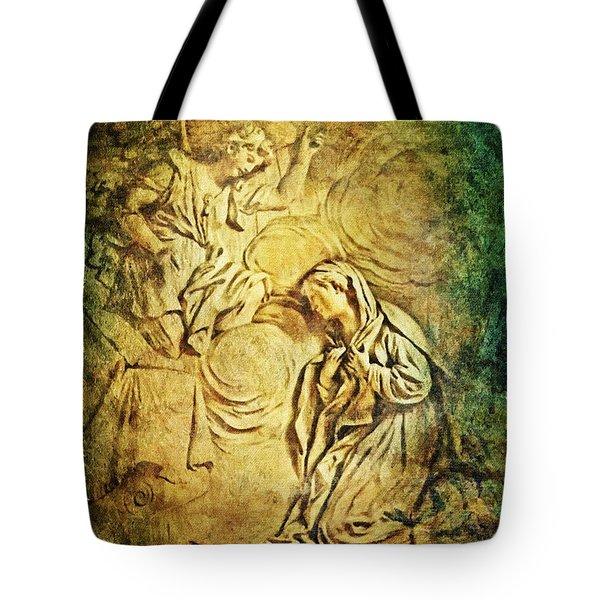 Ave Maria...gratia Plena Tote Bag by Lianne Schneider