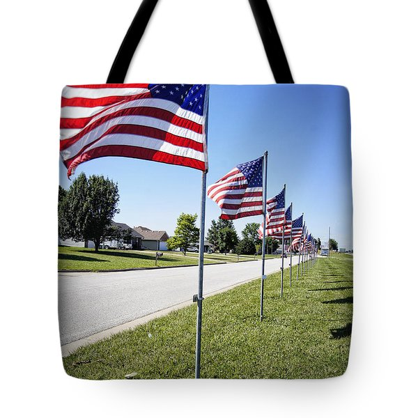 Avenue of the Flags Tote Bag by Cricket Hackmann