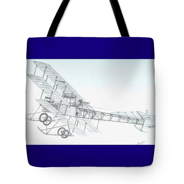 Avro Triplane Tote Bag by Rick Bennett