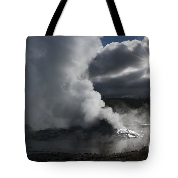 Awakening In Yellowstone Tote Bag by Sandra Bronstein