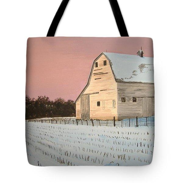 Award-winning Original Acrylic Painting - Nebraska Barn Tote Bag by Norm Starks
