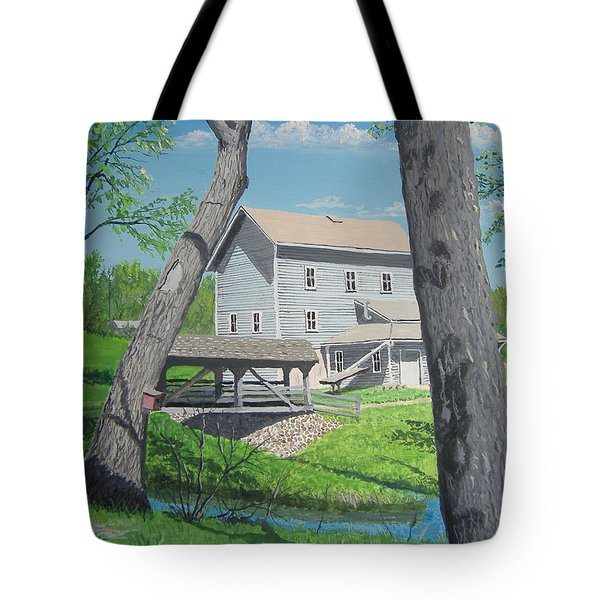 Award-winning Painting Of Beckman's Mill Tote Bag by Norm Starks