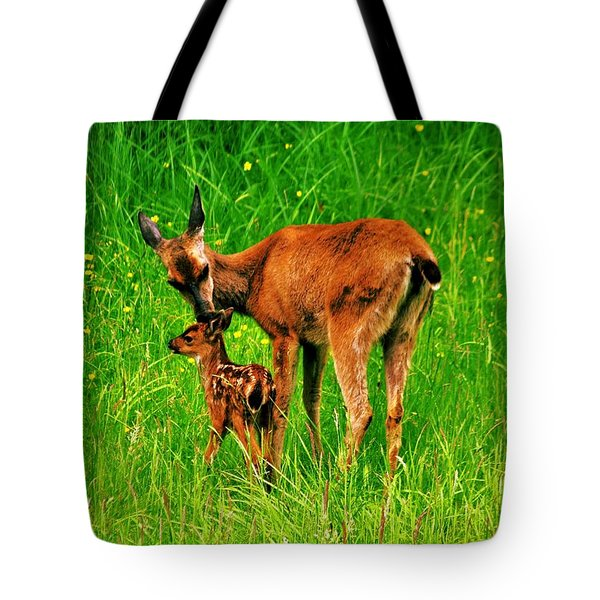 Aww Mom Tote Bag by Benjamin Yeager