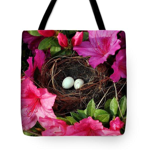 Azalea Surprise Tote Bag by KAREN WILES