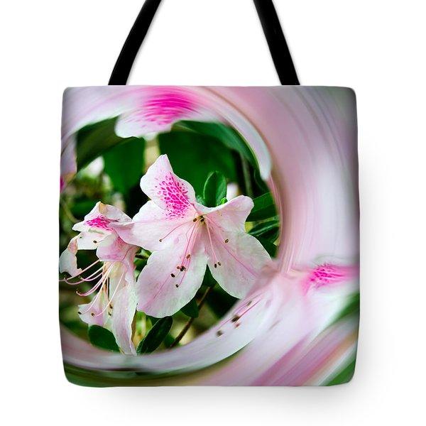 Azalea Swirl Tote Bag by Penny Lisowski