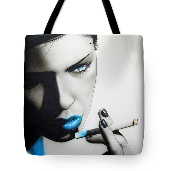 'azure Addiction' Tote Bag by Christian Chapman Art