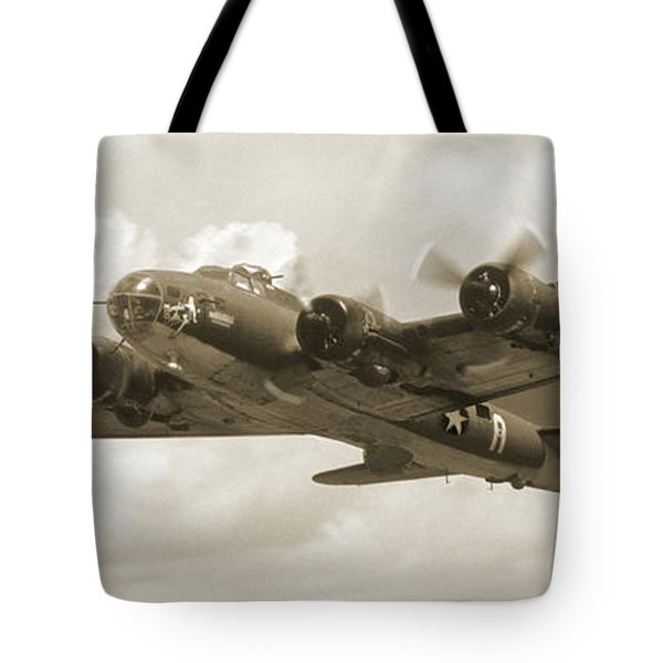 B-17 Flying Fortress Tote Bag by Mike McGlothlen