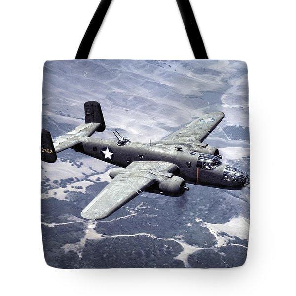 B-25 World War II Era Bomber - 1942 Tote Bag by Daniel Hagerman