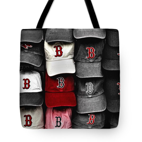 B for BoSox Tote Bag by Joann Vitali