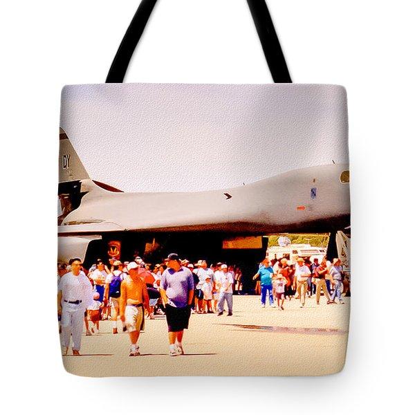 B1 Lancer El Toro Marine Base California Tote Bag by Bob and Nadine Johnston