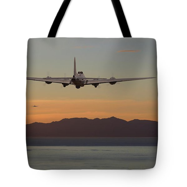B17  Landfall Tote Bag by Pat Speirs