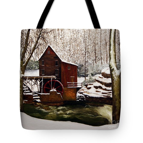 Babcock Mill In The Snow Tote Bag by Timothy Smith