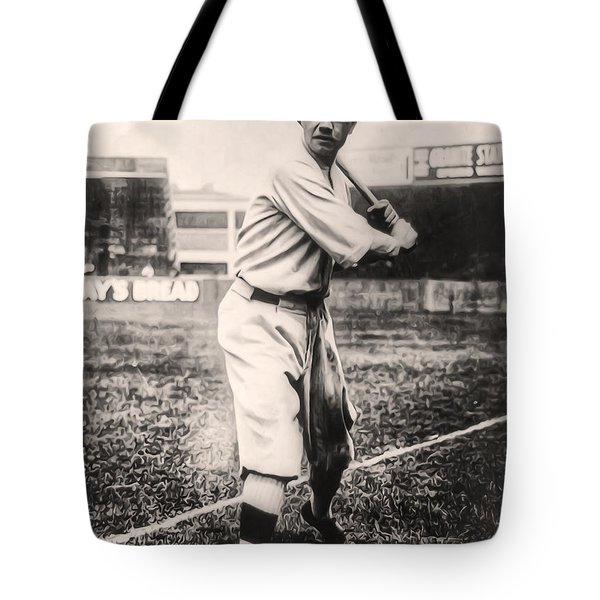 Babe Ruth Tote Bag by Bill Cannon