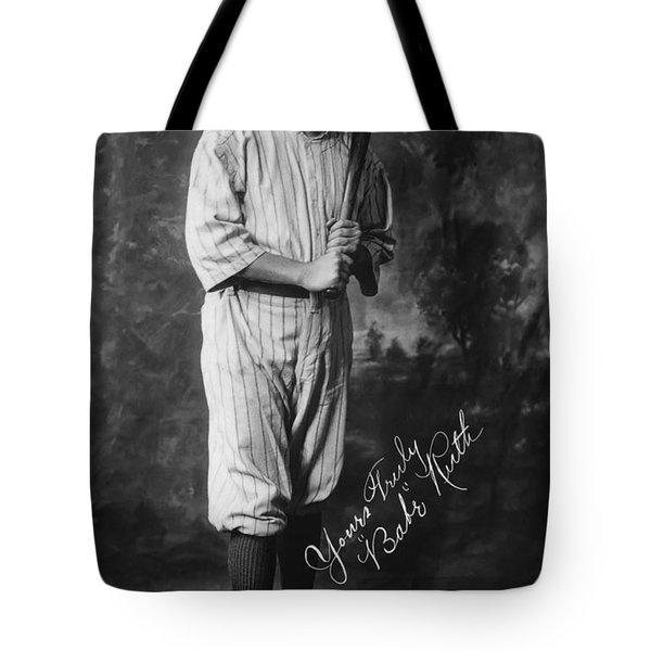 Babe 'the Sultan Of Swat' Ruth  1920 Tote Bag by Daniel Hagerman