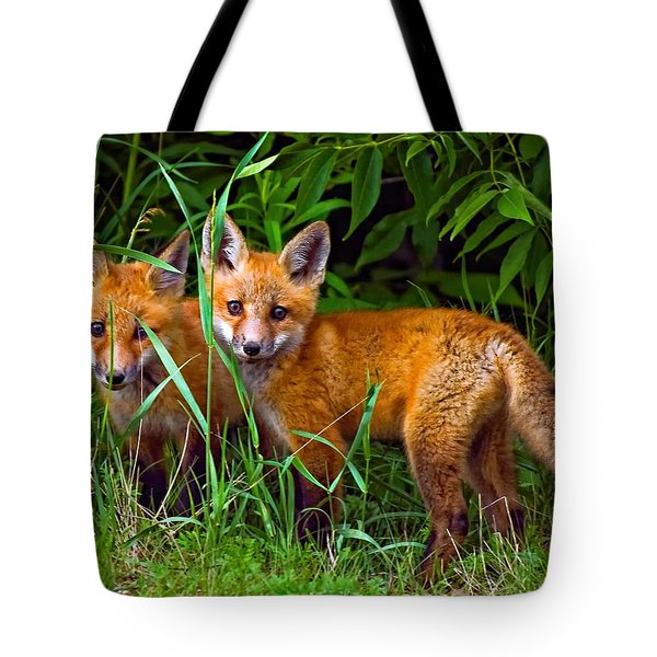 Babes In The Woods Tote Bag by Steve Harrington