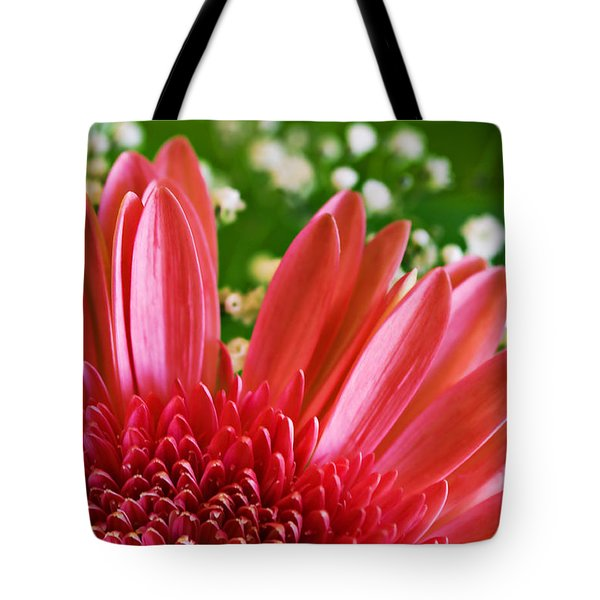 Babies Breath And Gerber Daisy Tote Bag by Marilyn Hunt
