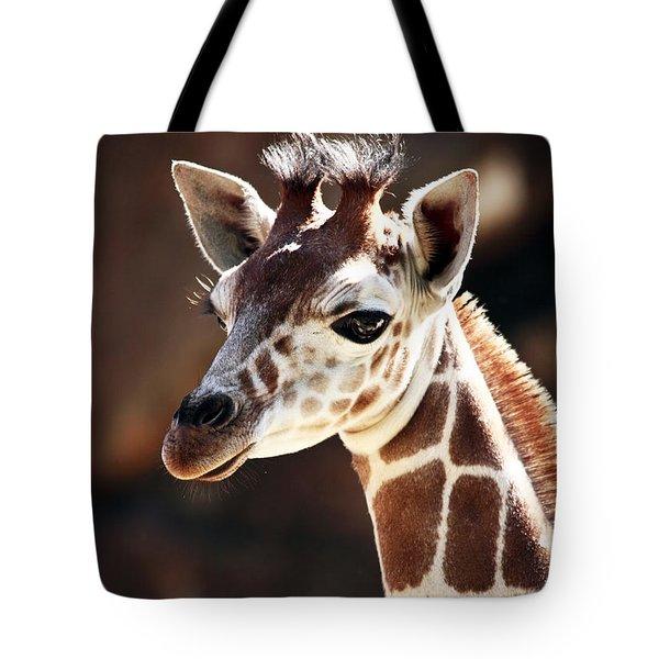 Baby Giraffe Tote Bag by John Rizzuto