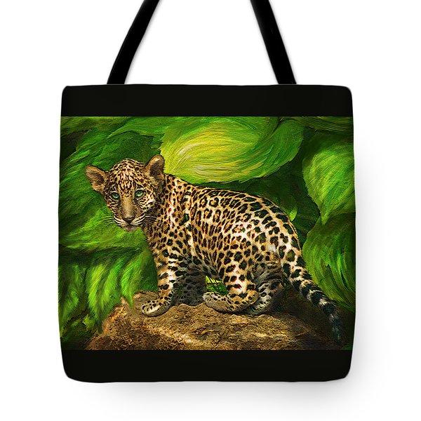 Baby Jaguar Tote Bag by Jane Schnetlage