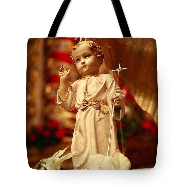 Baby Jesus Tote Bag by Gaspar Avila