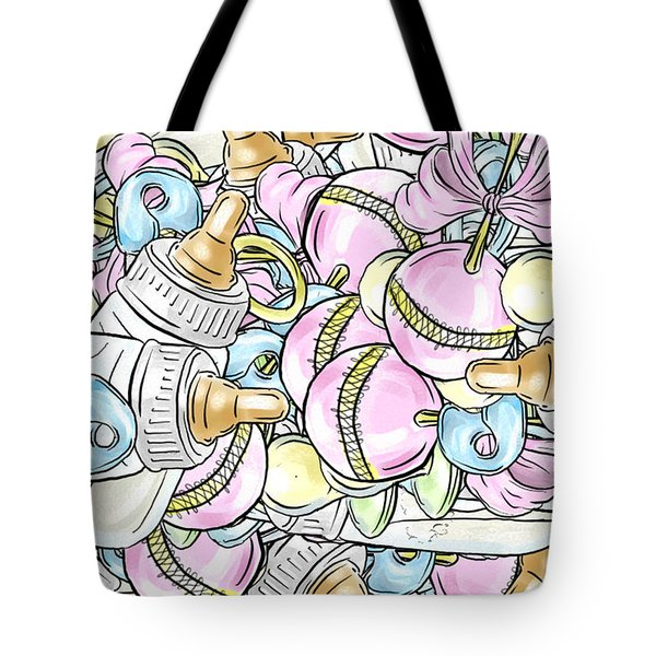 Baby On The Way Tote Bag by Trish Tritz