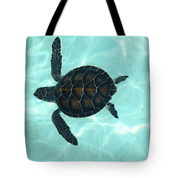 Baby Sea Turtle Tote Bag by Ellen Henneke