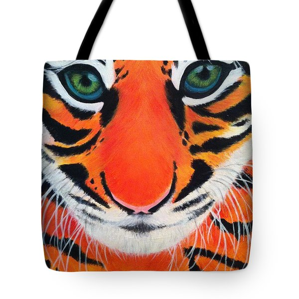 Baby Tiger Tote Bag by Lisa Bentley