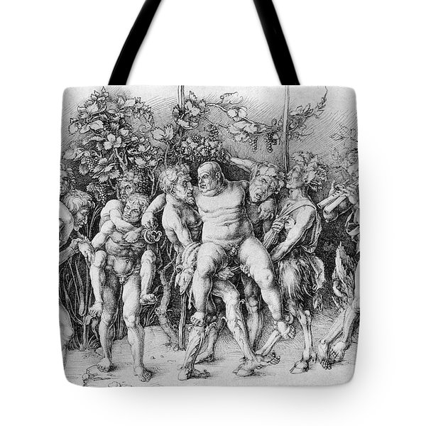 Bacchanal With Silenus - Albrecht Durer Tote Bag by Daniel Hagerman
