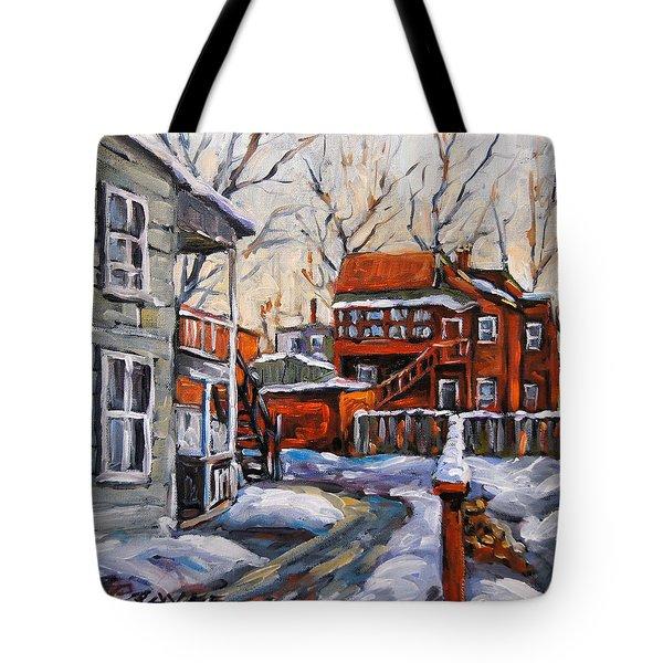 Back Lanes 02 Montreal By Prankearts Tote Bag by Richard T Pranke