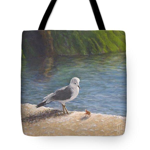 Back Off Tote Bag by Cindy Lee Longhini