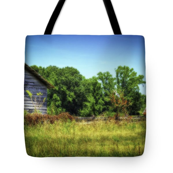 Back Road Barns Tote Bag by Barry Jones